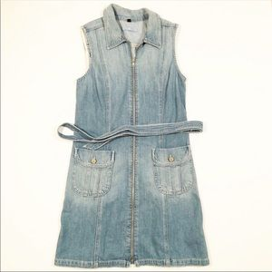 7 For All Mankind denim romper dress medium